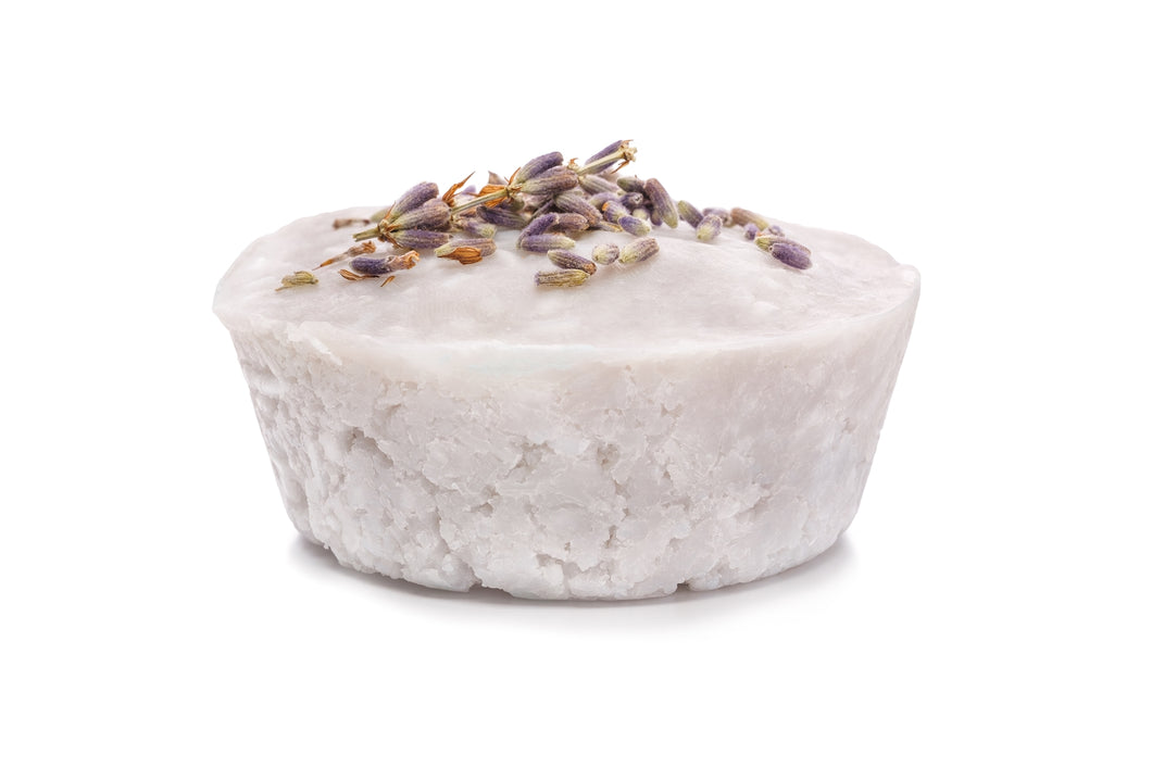 Lavender Natural Solid Shampoo for Normal to Dry-ish Hair with Coconut Oil