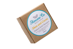 Shea and Cocoa Natural Solid Shampoo for Very Dry and Damaged Hair with Keratin 100 g