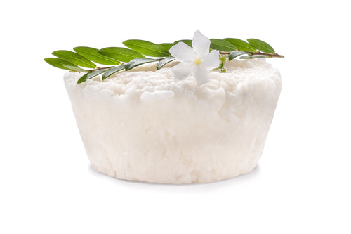 Coconut oil and Jasmine Natural Solid Shampoo for Dry and Damaged Hair with Cocoa Butter
