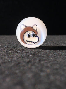 Micros Workshop - Raccoon Mario Face White Marble
