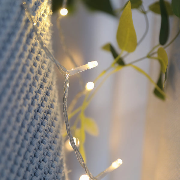 KooPower Battery-powered 80-LED Fairy Lights with Remote and Timer