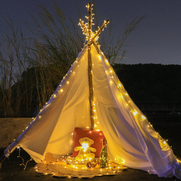 KooPower Battery-powered 11m/36ft 100-LED Fairy Lights with Remote and Timer