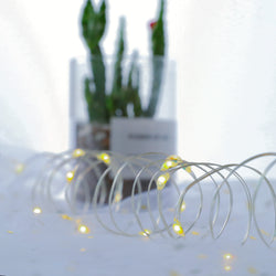 KooPower Battery-powered 50-LED Micro Fairy Lights with Remote Control
