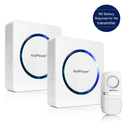 Wireless Doorbell Chime Kit - No Batteries Required