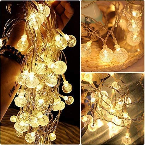 KooPower Battery-powered 5m/16.5ft 30-LED Crystal Ball Lights