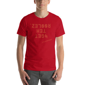 """FORGET THE RULES IT'S POSITIVUS"" Red Logo Unisex T-Shirt"