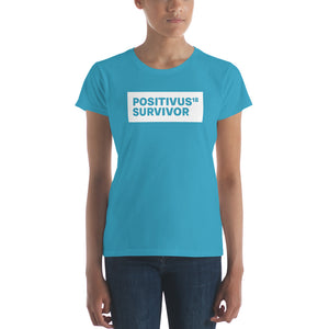 """POSITIVUS SURVIVOR"" White Logo Women's t-shirt"