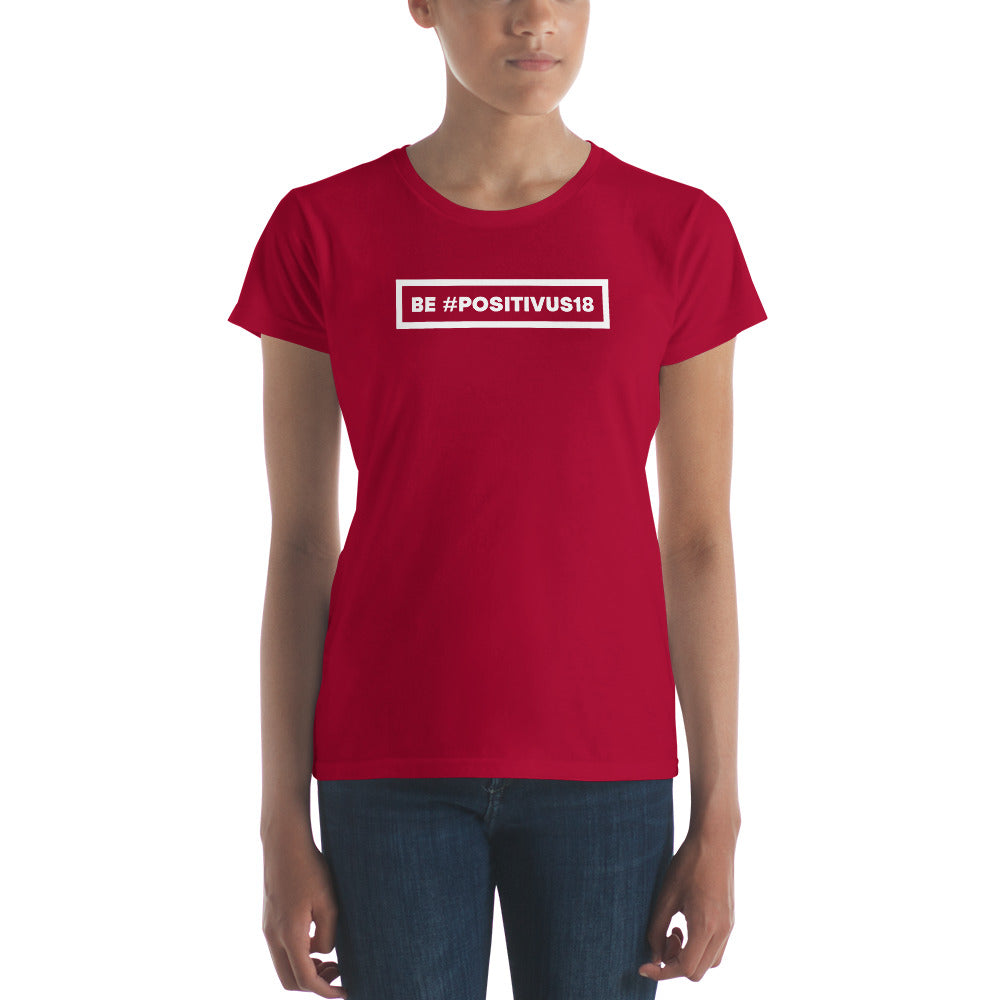 """BE POSITIVUS"" White Logo Women's t-shirt"