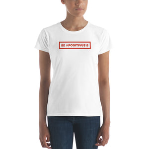 """BE POSITIVUS"" Red Logo Women's t-shirt"