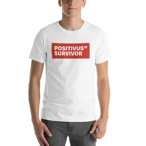 """POSITIVUS SURVIVOR"" Red Logo Unisex T-Shirt"