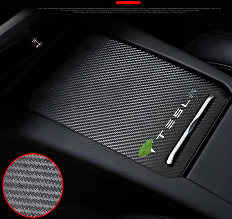 Carbon Fiber Center Console Sticker For Model S/X/3