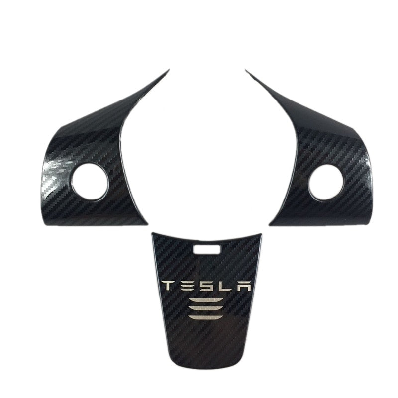 Carbon Fibre Steering Wheel Panel Cover