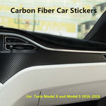 Dashboard Carbon Fibre Stickers For Tesla Model X/S