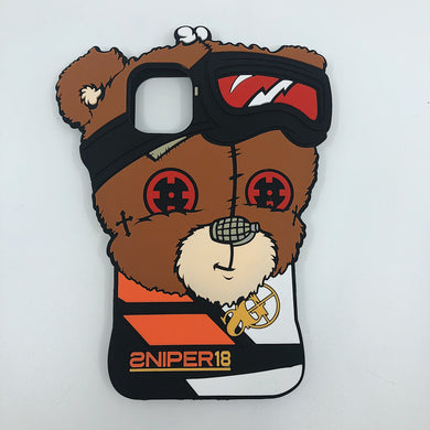 3D Phone Case: Motocross Bear