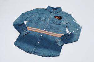 Denim Safety Button Down