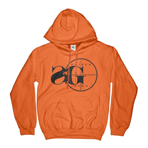 Hoodie: Sniper Gang Logo (Safety Orange)