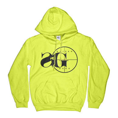 Hoodie: Sniper Gang Logo (Safety Green)