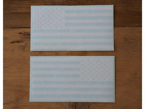 White American Flag Decals