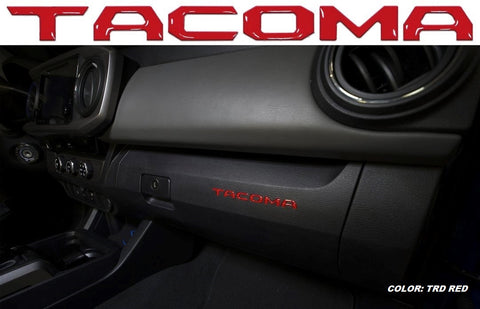"Glove Box ""TACOMA"" Letter Inserts (2016-Current)"