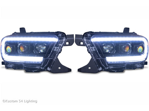 Kustom 54 Lighting 2016-2019 Tacoma XB LED Headlights
