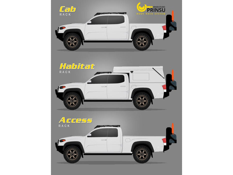 Prinsu Tacoma CabRack (4 Door Models) 2005-2021 *BEST SELLER*