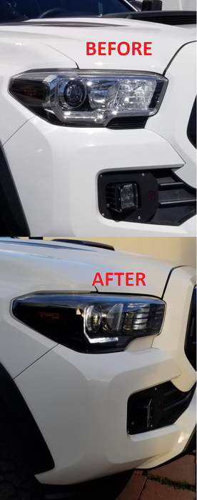 Meso Customs Tacoma Headlight Trim Plates (2016-2021)