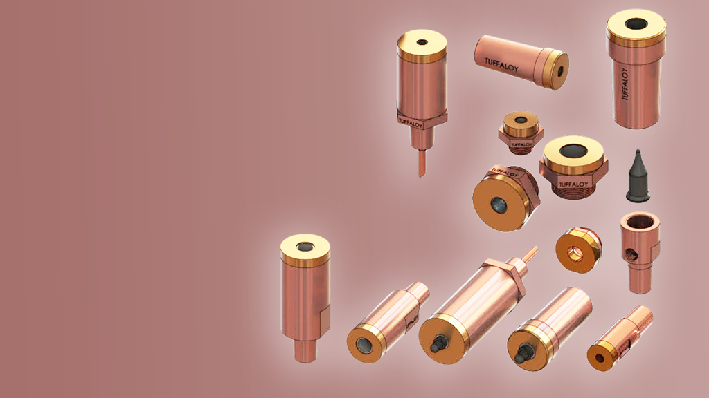 Nut and stud welding replacement parts for resistance and spot welding machines