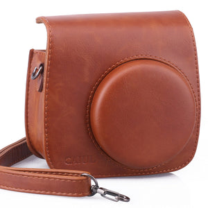 CAIUL Compatible Mini 9 Groovy Camera Case Bag for Fujifilm Mini 8 8+ 9 Camera (Brown)