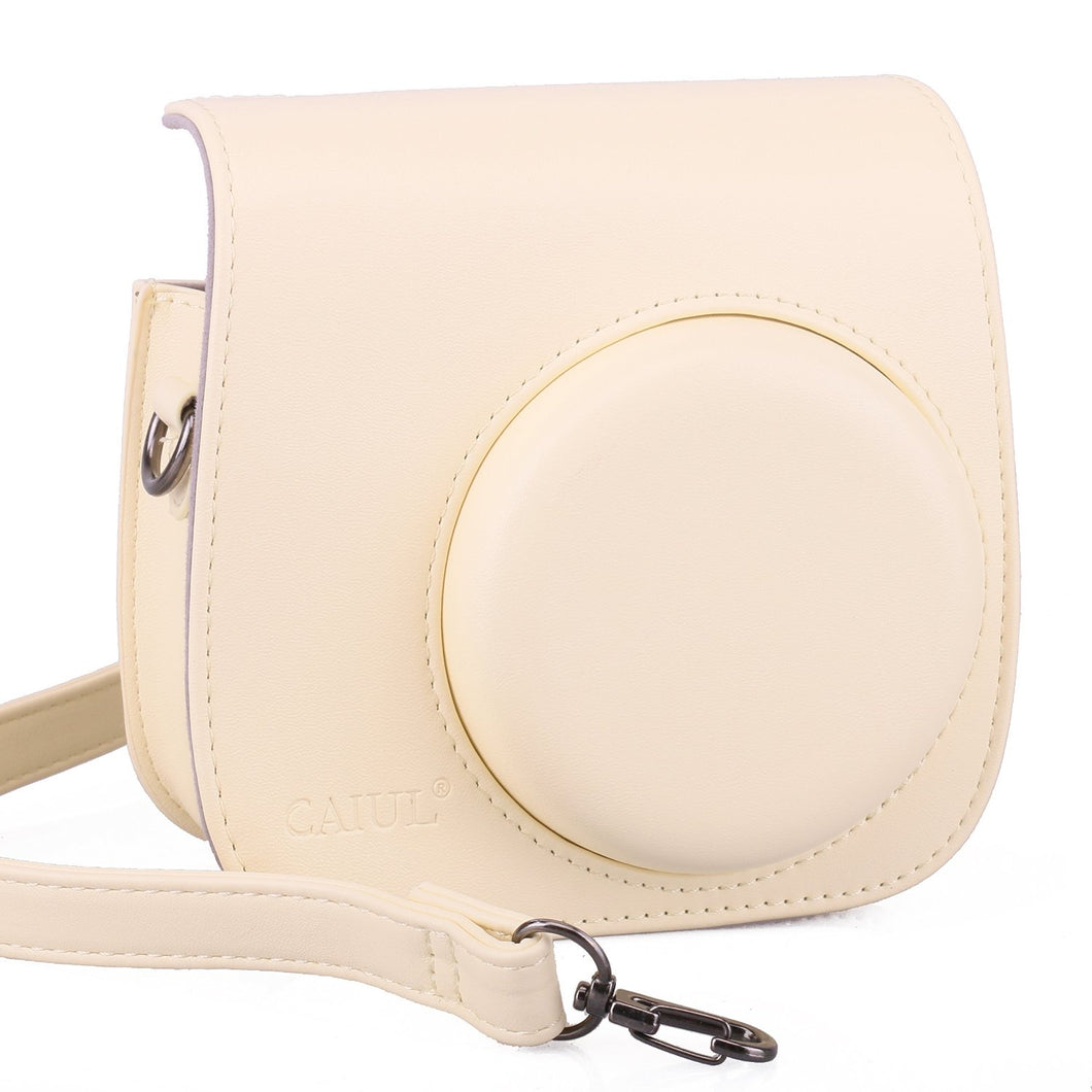 CAIUL Compatible Mini 9 Groovy Camera Case Bag for Fujifilm  Mini 8 8+ 9 Camera (Beige)