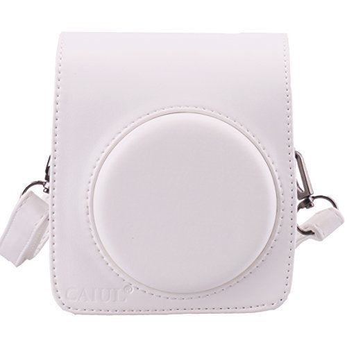 CAIUL Compatible Mini 70 Case Bag With Soft PU Leather Material for Fujifilm Mini 70 Camera - White