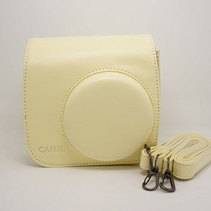 CAIUL Compatible Mini 8 Camera Case Bundle with Album, Filters & Other Accessories for Fujifilm Mini 9 8 8+ (Yellow, 7 Items)
