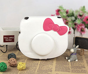 CAIUL Compatible Instant Film Camera Case Bag With Soft PU Leather Material for Fujifilm Hello Kitty [Ever Ready Design] (White)