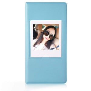CAIUL Compatible 64 Pockets Square Book Album for Fujifilm Square SQ10 Instant Film (Blue)