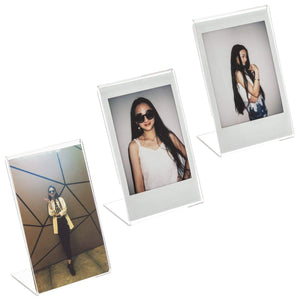 CAIUL Compatible Clear Acrylic Fridge Magnetic Frame, Double Sided Photo Magnet Frame for Fujifilm Mini 8 8+ 9 70 7s 90 25 26 50s Film, 3 pcs