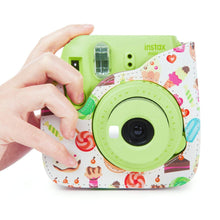Load image into Gallery viewer, CAIUL Compatible Mini 9 Groovy Camera Case Bag for Fujifilm Mini 8 8+ 9 Camera - Donuts & Ice Cream