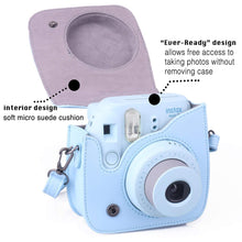 Load image into Gallery viewer, CAIUL Compatible Mini 9 Groovy Camera Case Bag for Fujifilm Mini 8 8+ 9 Camera (Blue)