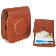 Load image into Gallery viewer, CAIUL Compatible Square PU Leather Photo Case Bag for Fujifilm Square SQ10 SQ6 Film (Brown)