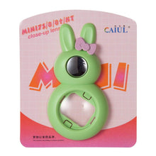 Load image into Gallery viewer, CAIUL Compatible Bunny Mini 9 Close Up Selfie Lens with Self-Portrait Mirror for Fujifilm  Mini 9 8 8+ 7s, Polaroid 300 Camera (Lime Green)