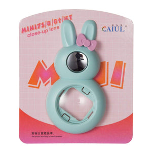 CAIUL Compatible Bunny Mini 9 Close Up Selfie Lens with Self-Portrait Mirror for Fujifilm Mini 9 8 8+ 7s, Polaroid 300 Camera (Ice Blue)