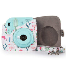Load image into Gallery viewer, CAIUL Compatible Mini 9 Groovy Camera Case Bag for Fujifilm Mini 8 8+ 9 Camera - Flamingo & Cactus