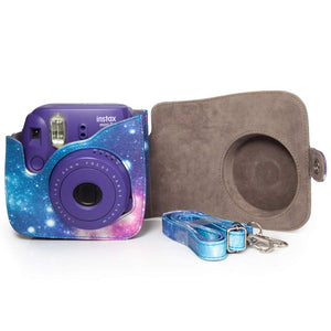 CAIUL Compatible Mini 9 Groovy Camera Case Bag for Fujifilm Mini 8 8+ 9 Camera (Galaxy)