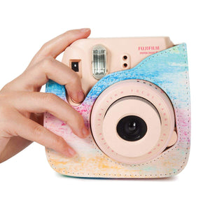 CAIUL Compatible Mini 9 Groovy Camera Case Bag for Fujifilm Mini 8 8+ 9 Camera - Rainbow Mist