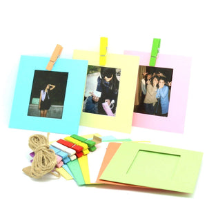 CAIUL Compatible Mini Frame Creative Wall Decor Hanging Film Frame For Fujifilm mini 8 70 7s 90 25 50s Film/Pringo 231 Film/SP-1 Film/Polaroid PIC-300P/Polaroid Z2300 Film