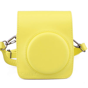 CAIUL Compatible Mini 70 Case Bag With Soft PU Leather Material for Fujifilm Mini 70 Camera - Yellow