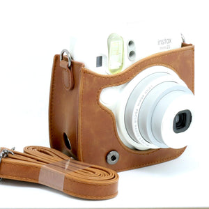 CAIUL Compatible Vintage Protection Case for Fujifilm Mini 25 26 Camera (Brown)