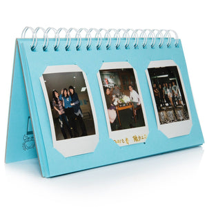 CAIUL Compatible Mini Book Album for Fujifilm Mini 8 8+ 9 70 7s 25 26 50s 90 Film, Pringo P231, Share SP-1 SP-2, Polaroid PIC-300 Z2300 Film (Blue, 60 Photos)