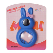 Load image into Gallery viewer, CAIUL Compatible Bunny Mini 9 Close Up Selfie Lens with Self-Portrait Mirror for Fujifilm Mini 9 8 8+ 7s, Polaroid 300 Camera (Cobalt Blue)