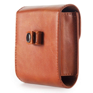 CAIUL Compatible Square PU Leather Photo Case Bag for Fujifilm Square SQ10 SQ6 Film (Brown)