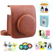 Load image into Gallery viewer, CAIUL Compatible Mini 90 Camera Case Accessories Bundle Kit for Fujifilm Mini 90, Brown (7 Items)