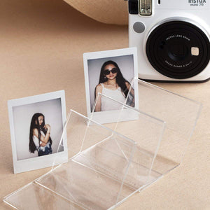 CAIUL Compatible V Model Clear Acrylic Photo Frame for Fujifilm Mini 8 8+ 9 70 7s 90 25 26 50s, SP-2, Polaroid PIC-300 Z2300 Film, 3 pcs